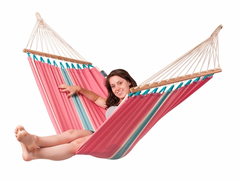 Single Hammock with Spreader Bars Fruta Lychee - Free Shipping