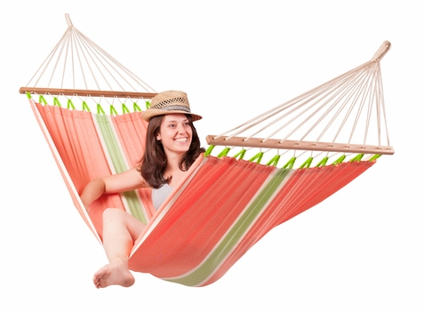 Single Hammock with Spreader Bars Fruta Mango - Free Shipping