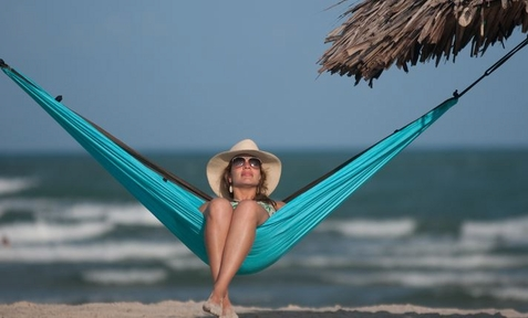 Single Travel Hammock Colibri Turquoise - Free Shipping