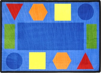 Sitting Shapes Classroom Carpet 5'4 x 7'8 Rectangle