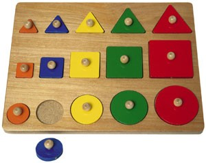 Size Comparison Wood Shapes Puzzle