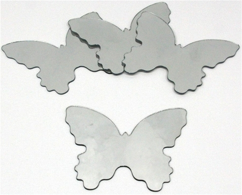 Small Butterfly Peel Stick Mirror