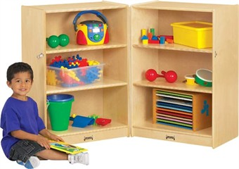Jonti-Craft Small Fold-N-Lock Classroom Storage Unit