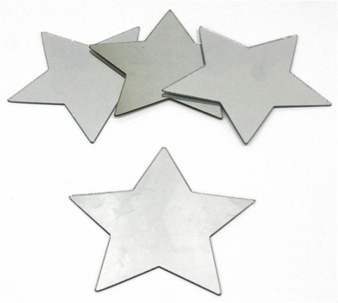 Small Star Peel & Stick Mirror Set