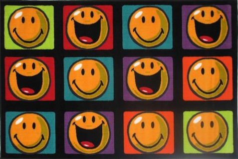 Smiley World Happy And Smiling Rug - Free Shipping
