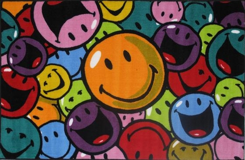 Smiley World Smiles And Laughs Rug