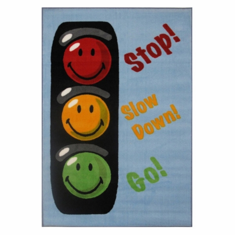 Smiley World Traffic Signal Rug