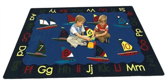 Smooth Sailing Kids Area Rug 7'8 x 10'9 Rectangle