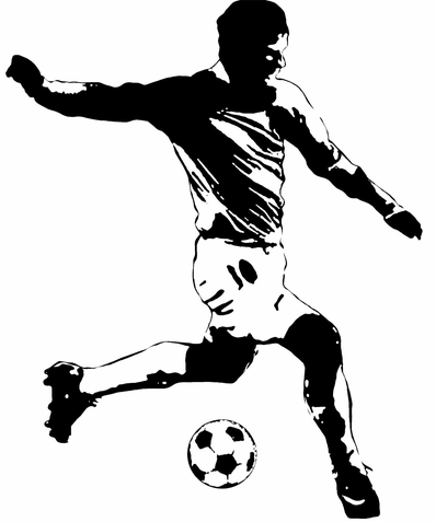 Soccer Player Peel & Stick Giant Wall Sticker