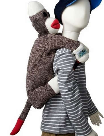 Sock Monkey Luggable - Free Shipping