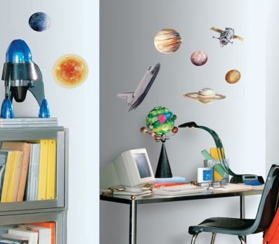 Space Travel Peel & Stick Decals - Free Shipping