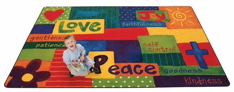 Spiritual Fruit Painted Rug 7'8 x 10'10
