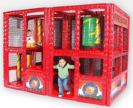 SportsPlay Tot Town Contained Play Fire Engine - Free Shipping