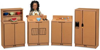 Sproutz 4 Piece Wood Play Kitchen Set