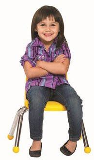 ECR4Kids Set of 6 Stacking Classroom Chairs - Select A Color
