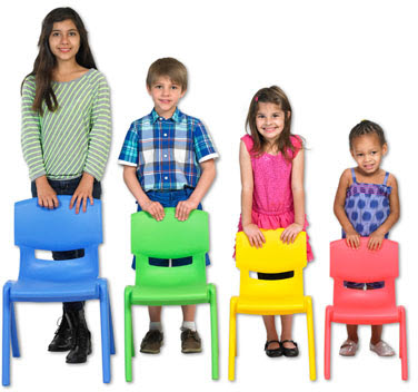 Set of 6 Stacking Resin Chairs