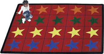 Star Space Classroom Rug 5'4 x 7'8 Rectangle