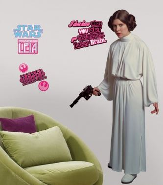 Star Wars Classic Leia Peel & Stick Giant Wall Decal