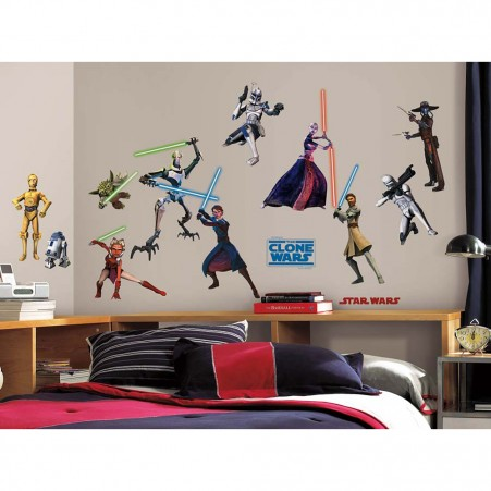 Star Wars Clone Wars Peel & Stick Wall Stickers
