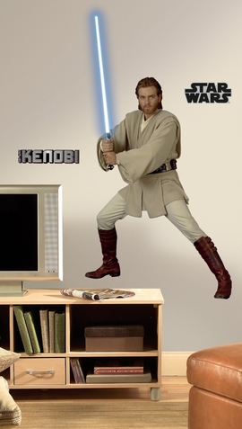 Star Wars Episodes 1 - 3 - ObiWan Peel & Stick Giant Wall Decal