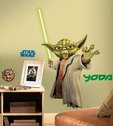 Star Wars Yoda Peel & Stick Giant Wall Sticker