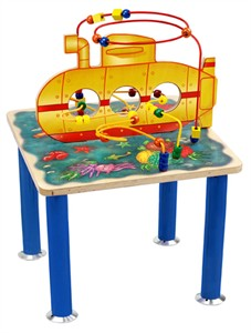 Submarine Rollercoaster Bead Activity Table