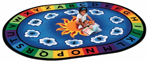 Sunny Day Learn and Play Factory Second Oval Rug 6'9 x 9'5