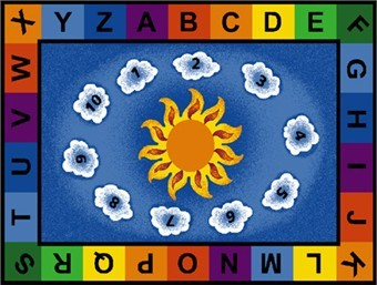 Sunny Day Learn and Play Rectangle Classroom Rug 8'4 x 11'8