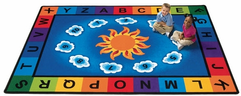 Sunny Day Learn and Play Rug Factory Second 4'5 x 5'10
