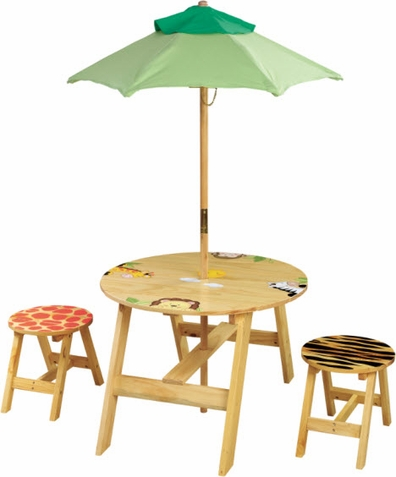 Sunny Safari Outdoor Table/Chair Set - Free Shipping