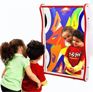 Large Funhouse Faces Giggle Mirror