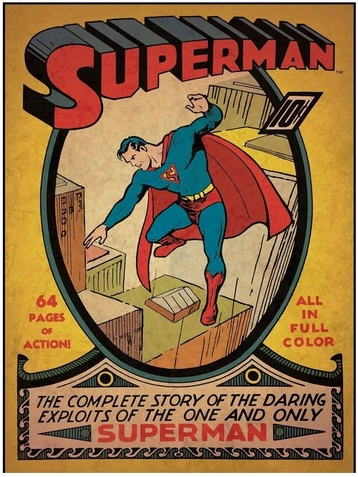 "Superman Issue #1 Comic Cover Giant Wall Decal - 17"" x 24 1/4"" - Free Shipping"
