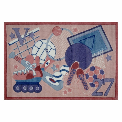 "Supreme All Stars Girls Area Rug  39"" x 58"""