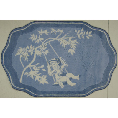 Supreme Blue Toile Rug - Free Shipping