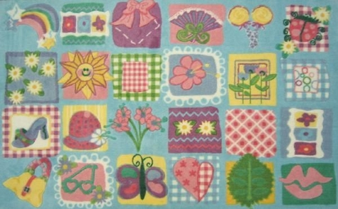 Supreme Funky Girls Quilt Rug - Free Shipping