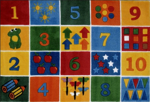 Supreme Number Blocks Area Rug - Free Shipping