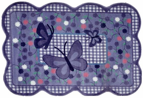 Supreme Purple Butterfly Area Rug