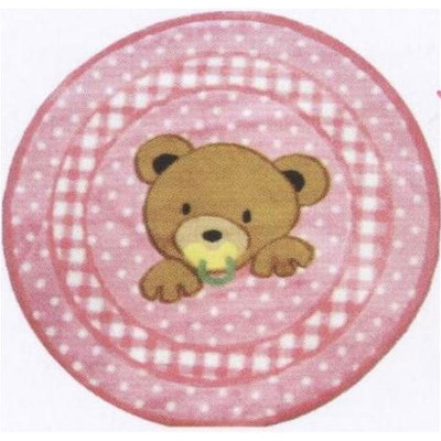 Supreme Teddy Center Pink Area Rug - Free Shipping