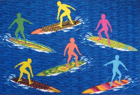"Surf Time Surfs ""R"" Us Rug"