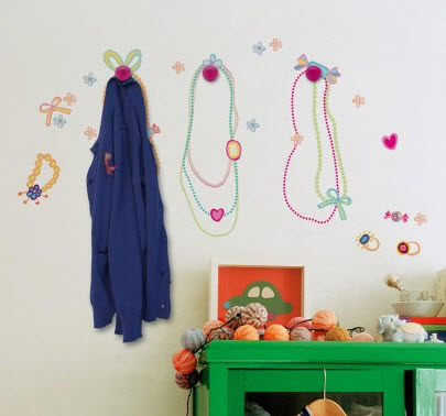 Sweets Wall Decals & Pink Hooks