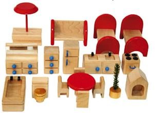 Dollhouse Furniture Set - Free Shipping