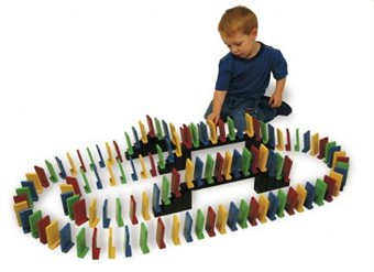 Set of 100 Easy Stand Dominoes