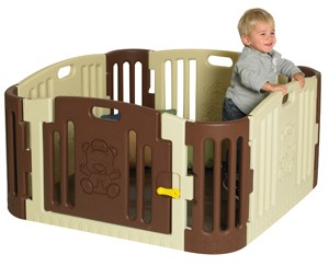 Tan/Brown Baby Bear Play Yard