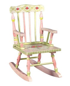 Girl's Crackle Finish Rocking Chair