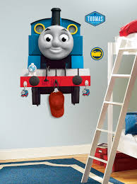 Thomas the Tank Engine Peel & Stick Giant Wall Decal with Hooks