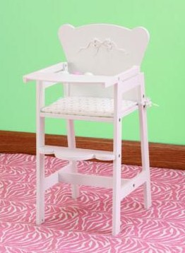 Tiffany Bow Lil Doll High Chair