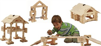 Timberworks Cottage/Bridge Construction Set