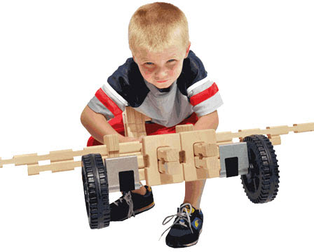 Timberworks Wheeled Vehicle Building Set - Free Shipping