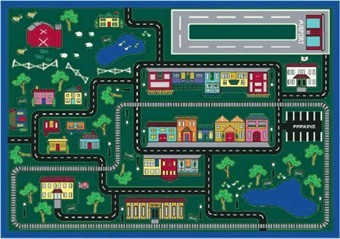 Tiny Town Kids Playroom Rug