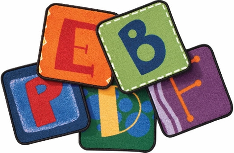 Toddler Alphabet Blocks Carpet Squares